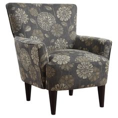 Flower power accent chairs are unique in contemporary design and traditional styling.