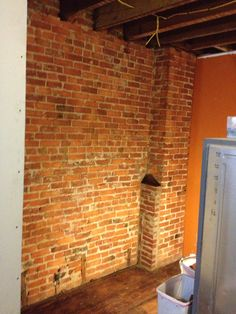 Cleaned brick. Country Chic Kitchen, Coffer, Reclaimed Barn Wood, Wood Accents, Kitchen Dining, Brick, Tiles, Ceiling, Safe Room