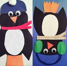 Penguin craft preschool   funnycrafts