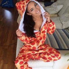 ADULT PIZZA ONESIE/JUMPER (NOT VS PINK- BRAND IS UNKNOWN) This is very comfy, there are no tags on it. Its in perfect condition. Hardly worn. >>Always open to trades<<  PINK Victoria's Secret Intimates & Sleepwear