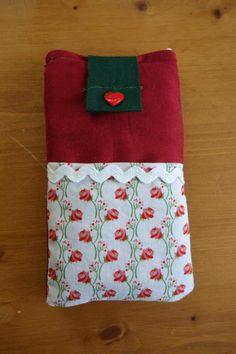 Handyschlafsack Rose Handytasche kostenloses Schnittmuster von marys.kitchen