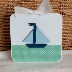 Thank You Cards Boy Baby Shower Sailboat Navy by CardinalBoutique, $70.00