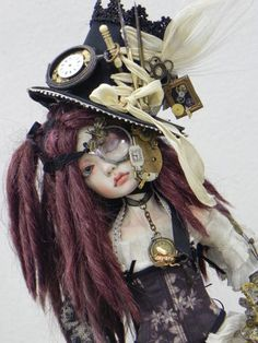Art Dolls - Sculpture - hand made dolls and characters - steampunk or alice in wonderland theme doll