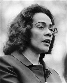 You know what they say... Every great man has a good woman behind him. Well, in Martin Luther King Jr.'s case he had a GREAT woman behind him. R.I.P Coretta Scott King.... Kinda bothers me that she died on my birthday :/ lol