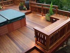 Are you thinking of how to build outdoor deck plans to beautify your outdoor living spaces? I have here how to build outdoor deck plans living spaces ideas. Deck Bench Seating, Backyard Seating, Built In Seating, Backyard Decks, Pergola Patio, Backyard Landscaping, Pergola Cost, Outdoor Benches, Wedding Backyard