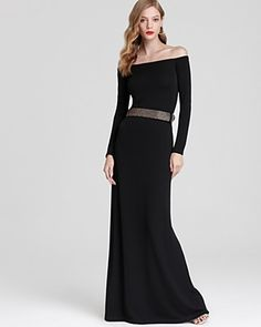 Halston Heritage Off The Shoulder Dress - Belted | Bloomingdale's I need this dress!!!!