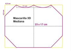 Mascara de tecido 3D: Moldes e medidas em todos os tamanhos para imprimir grátis - Como Fazer Sewing Patterns Free, Free Pattern, Mascara 3d, Diy Kids Furniture, Christmas Treats, Diy For Kids, Crafty, Face, How To Make
