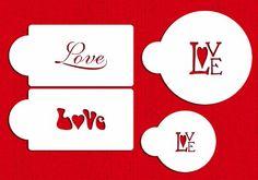 Designer Stencils Love Cookie and Cupcake Stencil, Beige/semi-transparent > Special offer just for you. Cupcakes, Cupcake Cookies, Valentine Cookies, Love Valentines, Decorating Tools, Cookie Decorating, Cake Stencil, Baking Tools, Baking Ideas