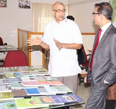 Padmashree Darshan Shankar with Philipe Haydon, CEO of Himalaya Drug Co. at TDU Campus
