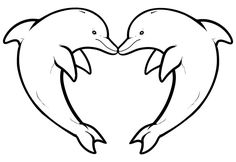 Easy Dolphin Coloring Pages Ideas. Kids would agree to do dolphin coloring pages to build their motor skill. Dolphin Coloring Pages, Heart Coloring Pages, Animal Coloring Pages, Coloring Pages To Print, Coloring For Kids, Printable Coloring Pages, Coloring Pages For Kids, Coloring Sheets, Cool Drawings For Kids