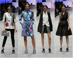 Looks from the Lie Sang Bong show at Singapore Fashion Week 2013..