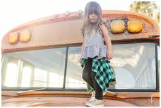 San Diego Portrait Photography | School Bus | Family Portraits
