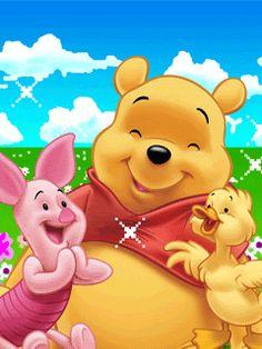 Pooh & Eeyore photo by Cute_Stuff Winnie The Pooh Pictures, Cute Winnie The Pooh, Winne The Pooh, Winnie The Pooh Quotes, Cute Cartoon Drawings, Cartoon Pics, Eeyore, Tigger, Gifs