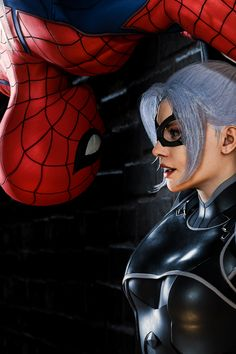Black Cat Marvel, Spiderman Black Cat, Spiderman Art, Amazing Spiderman, Hq Marvel, Marvel Comics Art, Marvel Venom, Dc Comics Girls, Marvel Girls
