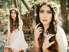 Bohemian photo shoot with a flower crown in the Fall | Lori Romney Photography