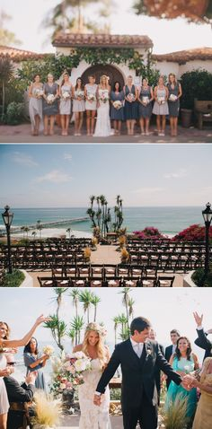 san clemente wedding -- love the chair set up for ceremony