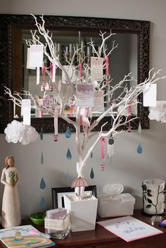 "wish tree baby shower | ... shower was a ""shower theme"" so the tree had rain, umbrellas, and baby"