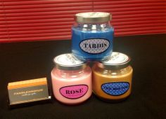 Candles for Geeks! They have Doctor Who, Sherlock, Harry Potter, and Supernatural! Yes please!