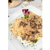 First Place 4 Health Chicken Piccata with Pasta & Mushrooms