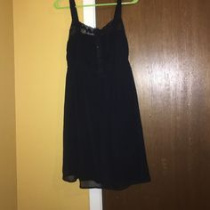Black cocktail dress ! Never worn ! Elastic middle waistband Mudd Dresses Mini