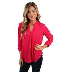 Glam Life Top in Hot Pink | Impressions Online Women's Clothing Boutique