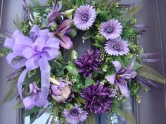 Spring summer purple floral daisey by TresBeautiful on Etsy