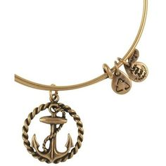 My new Alex and Ani Nautical Expandable Wire Bangle Russian Gold bracelet...