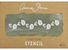 Annie Sloan Sjabloon Flower String