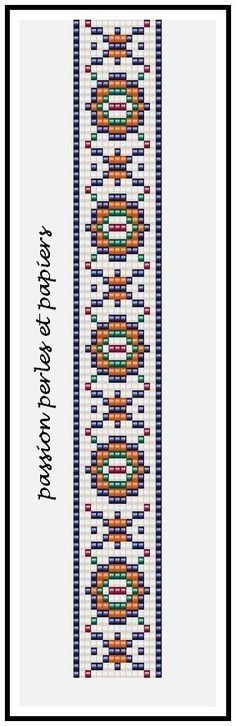 bead loom or square stitch pattern Bead Crochet Patterns, Seed Bead Patterns, Peyote Patterns, Weaving Patterns, Bead Loom Bracelets, Beaded Bracelet Patterns, Woven Bracelets, Loom Bands, Bead Loom Designs