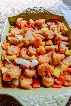 Shrimp, Mango, Meat, Baking, Recipes, Food, Manga, Bakken, Recipies
