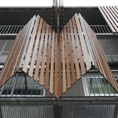 Placas Wood Decors para edificaciones / Trespa