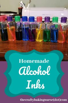 Homemade Alcohol Inks - The Crafty Baking Nurse - - Homemade alcohol inks have so many advantages when compared to store bought, like being cheaper and fun to make. Alcohol Ink Jewelry, Alcohol Ink Glass, Alcohol Ink Crafts, Alcohol Ink Painting, Sharpie Alcohol, Alcohol Ink Tiles, Sharpies, Crafts To Make, Diy Crafts