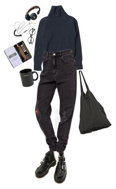 """depressed art student"" by inteovertgirl on Polyvore featuring HUF, Laneus and Dr. Martens"
