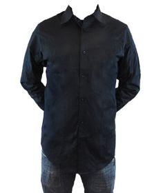 Ben Sherman William Long Sleeve Button Up Mens Shirt - Comes in two color variants!  Large  Black From #Ben Sherman Price: $64.99 Availability: Usually ships in 1-2 business daysShips From #and sold by newbury-comics