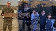 (AP) A military wife and mom in Colorado has come up with a unique way to include her deployed husband in this year's family Christmas photo.Brandon Sistrunk isn't set to return from his southwest Asia deployment until next month. Family Christmas Cards, Christmas Mom, Christmas Pictures, Holiday Cards, Christmas Ideas, Military Family Photos, Military Wife, Military Families, Military Deployment