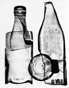 Nigel Henderson, 1949–51, Photograph of a photogram of a milk bottle 1949–51 © Nigel Henderson Estate
