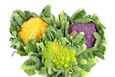 Agrandir l'image Chou-fleur romanesco orange, violet de la Maison Butet à Rungis Orange, Cauliflower, Violet, Vegetables, Food, Sprouts, Fine Dining, Products, Home