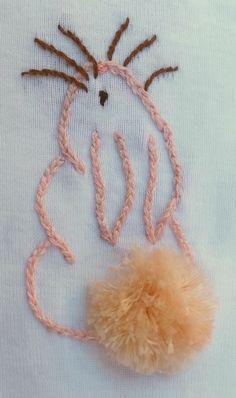 Bunny Onesie with turkey work tail.