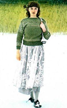 Geneviève nous l'a demandé, le voici : L'ouvrage est d'Yveline HOLLIER LACOSTE Les photos sont de Gilles de CHABANEIX Et voici les explications : La maman de Mamounette l'avait tricoté, en son temps, pour Papounet, et il le porte toujours, comme on peut...