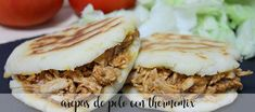 Arepas de pollo con Thermomix Sandwiches, Beef, Food, Home, Vegetables, Meals, Cooking Recipes, Chinese Cuisine, Kitchens
