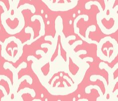 warm pink ikat fabric by domesticate on Spoonflower - custom fabric Textile Patterns, Print Patterns, Textiles, Ikat Painting, Coral Throw Pillows, Pink Pillow Covers, Ikat Fabric, Girl Room, Baby Room