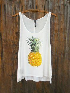 Pineapple Print Summer Tank Top