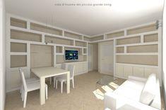 Arredare il Soggiorno con Librerie in Cartongesso di JFD - Juri Favilli Design | homify Bookshelves, Bookcase, Ideal Home, Ideas, Design, Home Decor, Ideal House, Furniture, Home