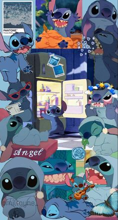 Butterfly Wallpaper Iphone, Disney Phone Wallpaper, Cartoon Wallpaper Iphone, Cute Anime Wallpaper, Cute Wallpaper Backgrounds, Cute Cartoon Wallpapers, Disney Stitch, Lilo Stitch, Disney Collage
