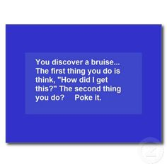 FUNNY SAYINGS BRUISE POKES LAUGHS COMMENTS POST CARDS