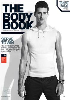 Richard Phibbs photographs tennis pro Novak Djokovic for the September 2013 Men's Fitness cover.  Capture by Versatile Studios.
