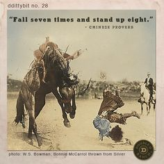 """""""Fall seven times and stand up eight."""" - Chinese Proverb"""