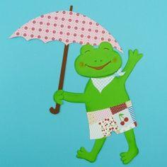 #Frosch basteln, Schöne Bastelidee   Frosch basteln aus Papier, #Tiere basteln