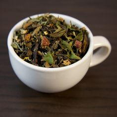 White Peony hand blended with the sweet essence of guava. This tea has a pleasant, rich aroma and delivers an exotic, tropical flavor with a sharp finis. Small Tea, Loose Leaf Tea, How To Dry Basil, Tea Time, Herbs, Organic, Green, Collections, Food