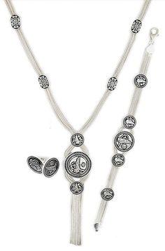 Theia Silver Enamel Set & Turkish Wholesale Silver Jewelry #wholesale #silver #jewelry #set #turkish #ottoman https://www.facebook.com/TheiaSilverJewelry